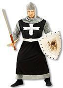 Dunkler Kreuzritter Kostüm XL
