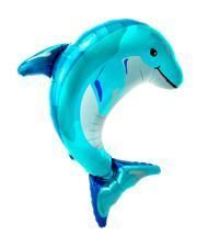 Foil balloon Dolphin Blue