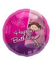 Happy Birthday Folienballon Ballerina