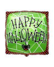 Happy Halloween Folienballon Spinnennetz