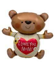 I Love You Mum Teddybär Folienballon