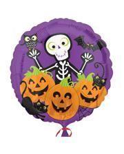 Foil balloon with Halloween Scene