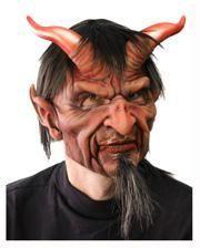 Unheimliche Teufelsmaske mit Haar