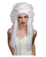 Geister Damenperücke Weiß