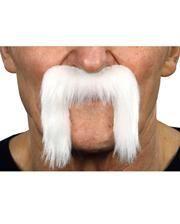 Adhesive biker mustache white