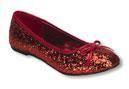 Rote Glitzer Ballerinas