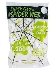 """Glow in the Dark"" Halloween Spinnennetz 60gr."