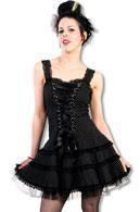 Polka dots tulle dress black
