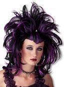 Gothic Devil Wig purple black