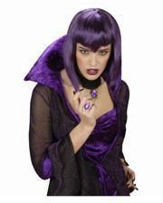 Gothic ring with violet stone