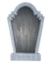 Grave stone blackboard with chalk 55cm