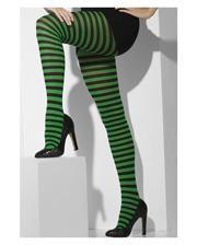 Striped Tights black-green