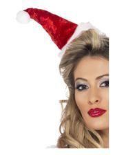 Weihnachts Haarreif mit Bommelmütze