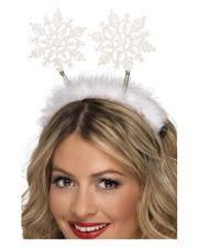 Schneeflocken auf Haarreif