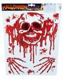 Halloween Aufkleber blutiger Totenkopf