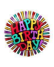 Foil balloon Happy Birthday Round