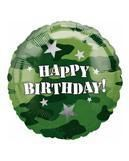 Camouflage Folienballon Happy Birthday