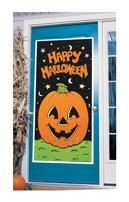 Happy Halloween Tür-Deko Kürbis