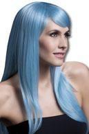 Sienna Damen Perücke hellblau