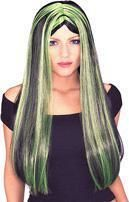 Witch with green streaks