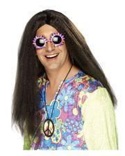 Braune Hippie Perücke