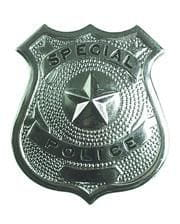 Shiny police badge