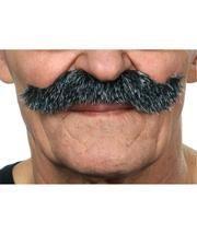 Kaiser Wilhelm mustache ash-black