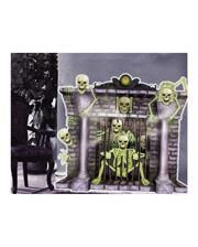 Wanddeko Kamin mit Skeletten