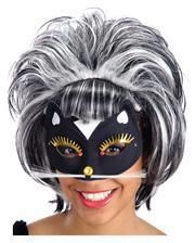 Cat Mask with Glitter and Rhinestones
