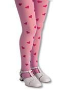 Kinder Herzstrumpfhose rosa