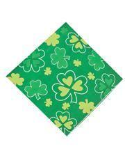 St. Patrick's Day Kleeblatt Servietten