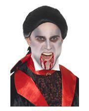 Schwarze Vampir Perücke