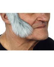 Self robbers sideburns mottled white-gray