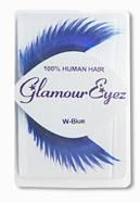 Human Hair Eyelashes Blue