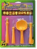 Pumpkin Carving Set 14 pieces including templates