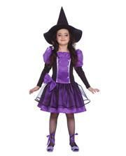 Lila Hexe Kinderverkleidung