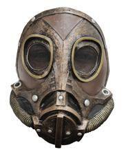 Steampunk latex gasmask