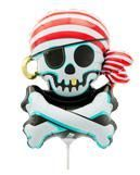 Mini-Folienballon Jolly Roger