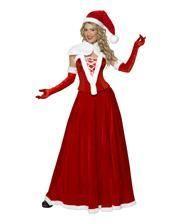 Miss Santa Corsagenkostüm mit Mütze