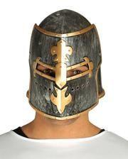 Medieval knight`s helmet