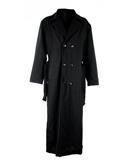 Gothic Mantel aus Wolle Schwarz