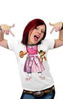 Lustiges Wiesn T-Shirt mit Baby Dirndl