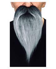 Ganoven Bart schwarz grau