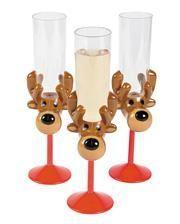Reindeer Sektglas