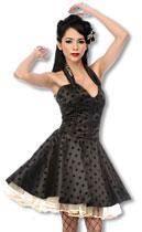 Satin Petticoat Kleid mit Leoparden Muster