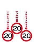 Rotorspirale Verkehrsschild Zwanzig