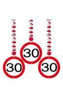 Rotor spiral road sign 30