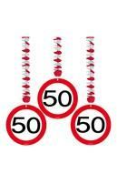 Rotor spiral road sign 50