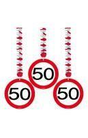 Rotorspirale Verkehrsschild Fünfzig