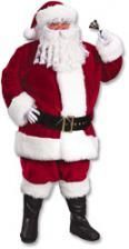 Santa Claus Deluxe Costume XL Claret Red